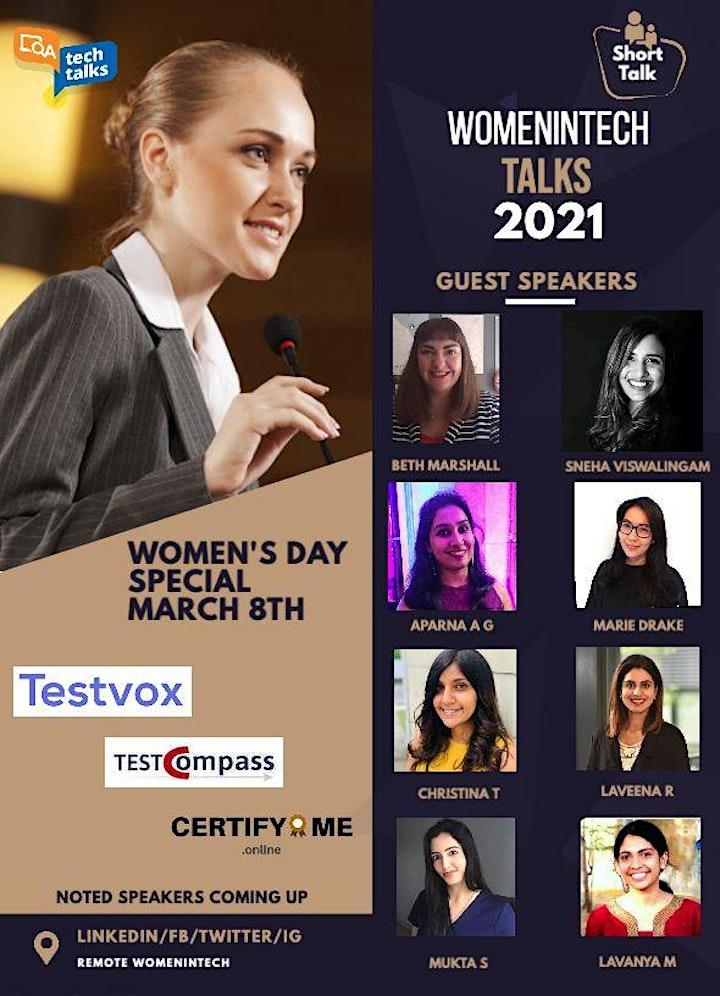 WomenInTech Talks 2021 - Women's Day Special image