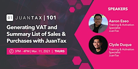 Generating VAT and Summary List of Sales & Purchases with JuanTax tickets