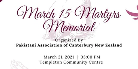 March 15th Martyr's Memorial tickets