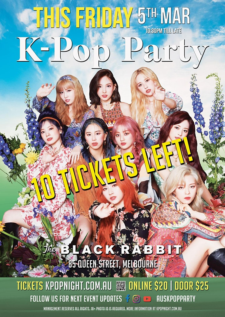 [TONIGHT] K-Pop Party [Get Your Tickets Tonight! Full Capacity Event] image