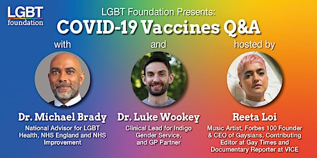 LGBT Foundation Presents: COVID-19 Vaccines Q&A tickets