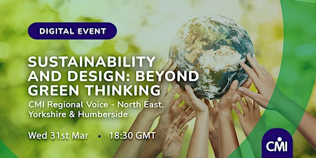 Sustainability and Design: Beyond Green Thinking tickets
