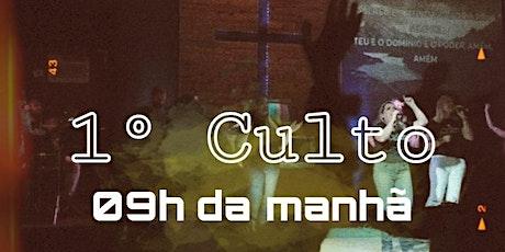 CULTO MANHÃ  - DOMINGO 07/03 ingressos
