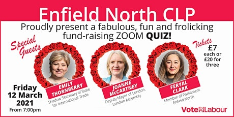 Fab Fun Enfield North Labour Fundraising Quiz tickets