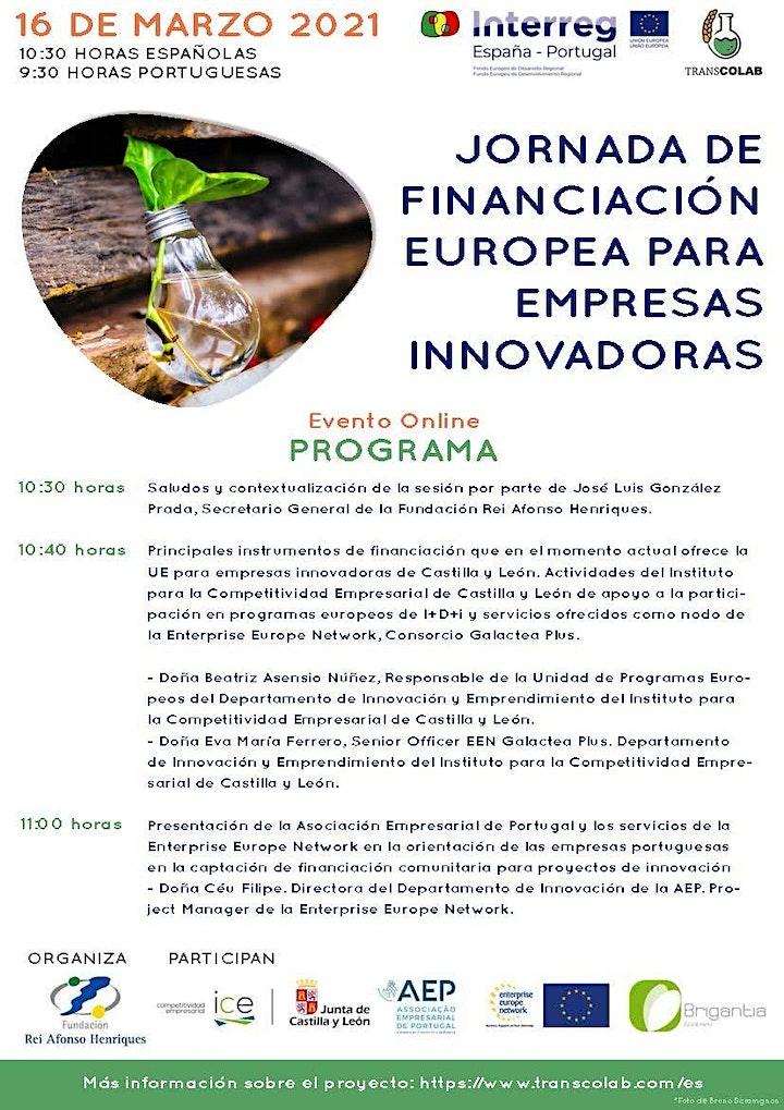 Imagen de JORNADA DE FINANCIACIÓN EUROPEA PARA EMPRESAS INNOVADORAS