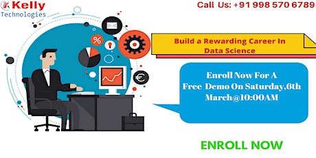 Data Science Free Demo On Saturday 6th  March 2021@10 AM, In Hyderabad tickets