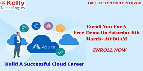 Azure  Free Demo On Saturday 6th  March 2021@10 AM, In Hyderabad tickets