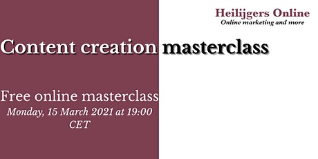 Content Creation Masterclass tickets