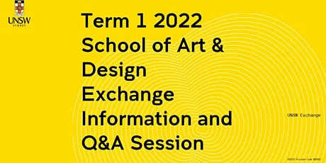 Art & Design Exchange Information Session tickets