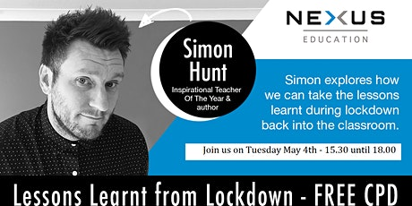 'Lessons Learnt From Lockdown' with Simon Hunt tickets