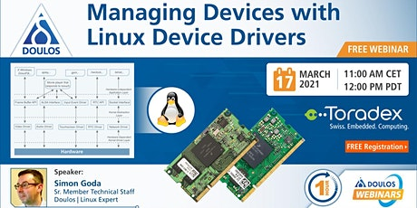 Webinar: Managing Devices with Linux Device Drivers tickets
