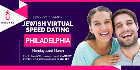 Isodate's Philadelphia Jewish Virtual Speed Dating - Swipe Less, Date More tickets