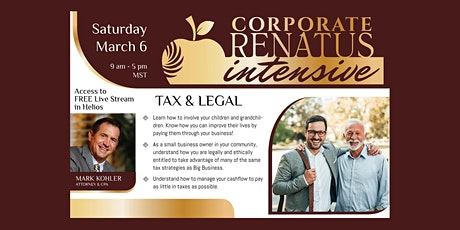 Tax & Legal Intensive Live Stream Webinar tickets