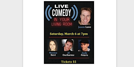 Live Comedy in Your Living Room tickets