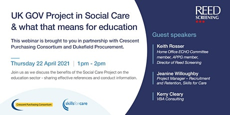 UK GOV Project in Social Care & what that means for education tickets