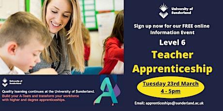 The University of Sunderland - Teacher Apprenticeship Information Event tickets