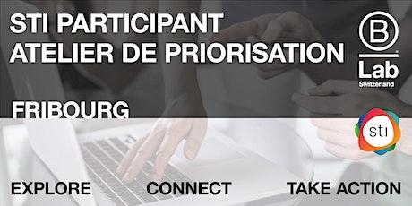 STI Participant - Atelier de priorisation (Plateforme de Fribourg) tickets