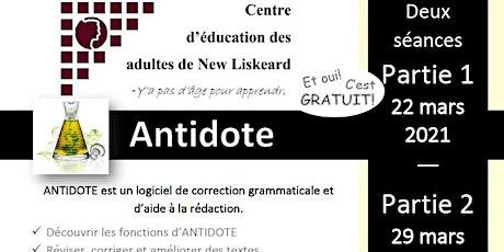 Antidote - Un atelier pour améliorer ses compétences en écriture billets