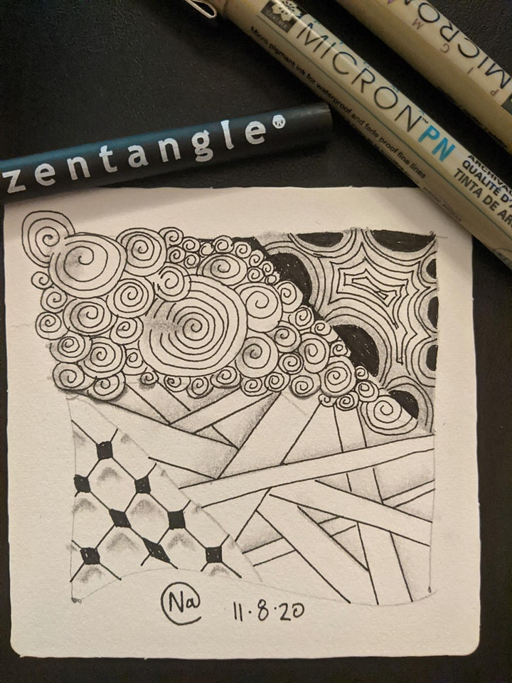Zentangle 1 - An Introduction in Mindful Doodling image