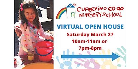 Cupertino Co-Op Nursery School Virtual Open House tickets