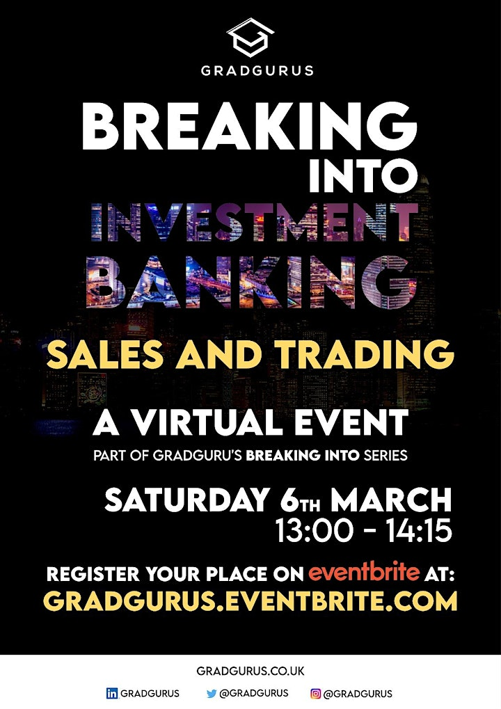 Breaking Into Investment Banking: Sales & Trading image