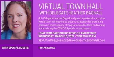 Delegate Bagnall's Virtual Town Hall - Long Term Care and COVID-19 tickets