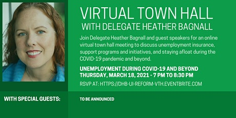 Delegate Bagnall's Virtual Town Hall - Unemployment During COVID-19 tickets
