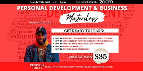 Personal Development and Business Masterclass tickets