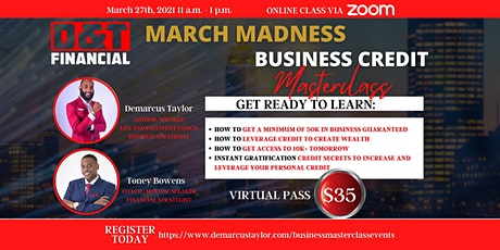 March Madness Business Credit Masterclass tickets