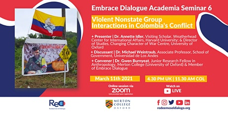 EDAS 6: Violent Nonstate Group Interactions in Colombia's Conflict tickets