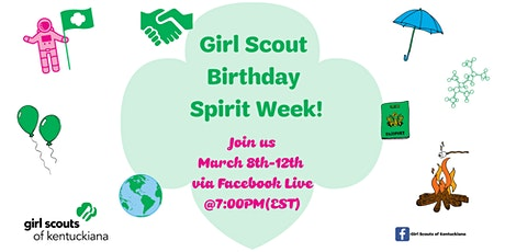 Girl Scout Birthday Spirit Week- Birthday Bonfire! tickets