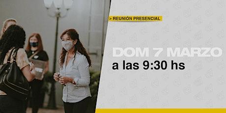 Reunión Presencial en Caudal de Vida-Domingo 07/3  09:30 hs. entradas