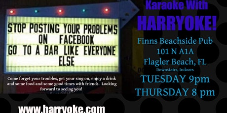 Tuesday Karaoke at Finns Beachside Pub tickets