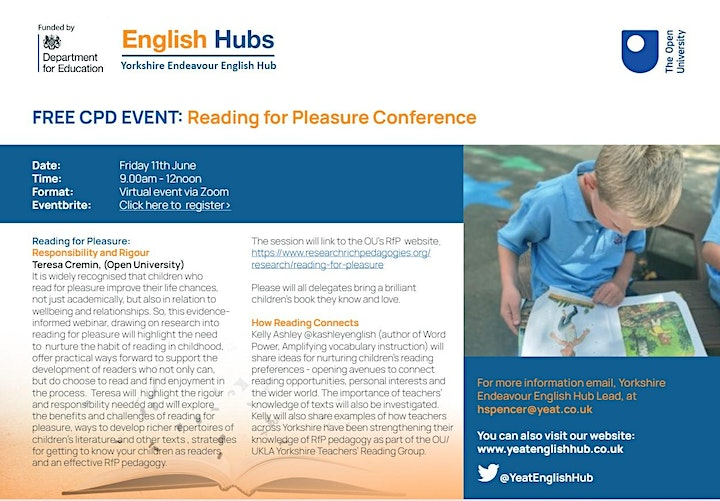 Reading for Pleasure Conference image