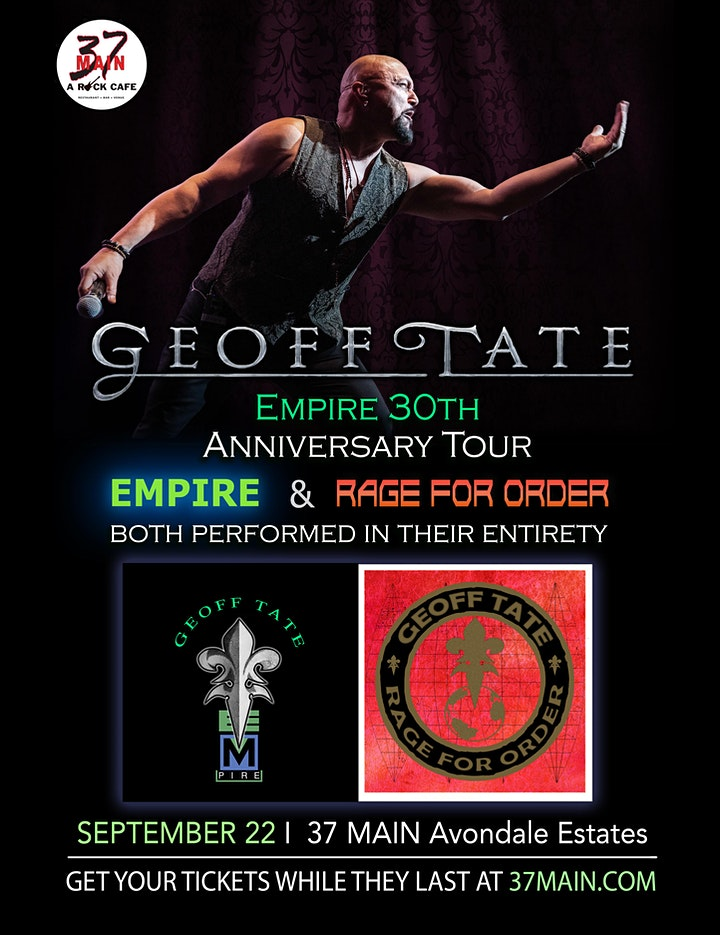 Geoff Tate  |  Empire 30th Anniversary Tour image