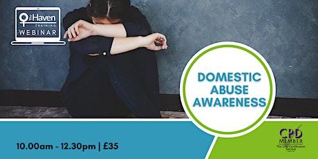 Domestic Abuse Awareness webinar tickets