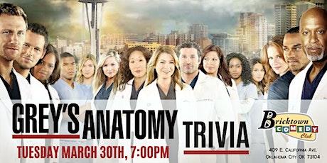 Grey's Anatomy Trivia at Bricktown Comedy Club tickets