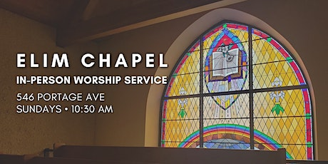 Elim Chapel In-Person Worship Service tickets