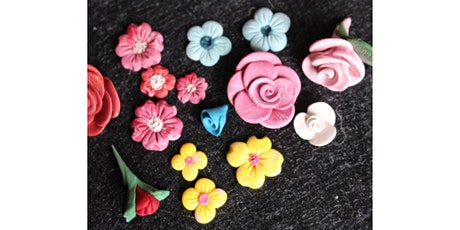 45min Spring Flowers Clay Art Lesson @5PM  (Ages 5+) tickets