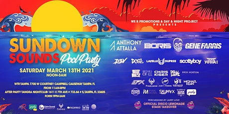 Sundown sounds Pool party (Sundown sounds cruise tickets