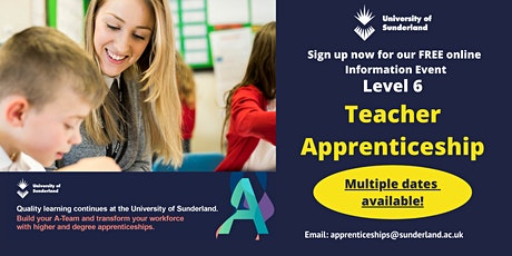 The University of Sunderland - Teacher Apprenticeship Information Event tickets
