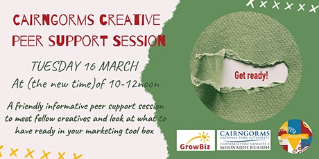 Cairngorms Creative Peer Support Session - Creative Marketing Tool Box tickets