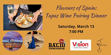 Flavours of Spain: Tapas Wine Pairing Dinner tickets