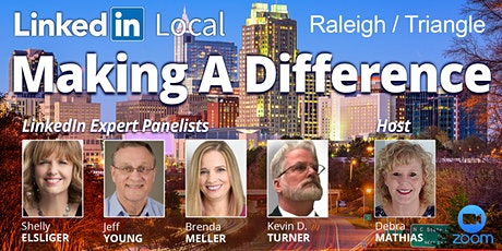 "LinkedIn Local Raleigh/Triangle ""Making A Difference"" Virtual Networking biglietti"