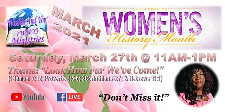 """""""WAY"""" Ministries """"Women's History Month"""" Celebration tickets"""