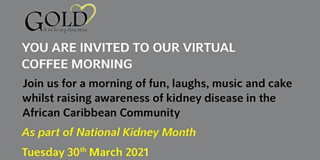 CONVERSATIONS ABOUT KIDNEY DISEASE IN THE AFRICAN CARIBBEAN COMMUNITY tickets
