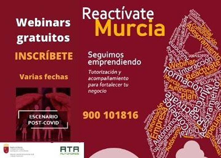 Imagen de Webinars Ayudas para Autónomos Reactívate Murcia