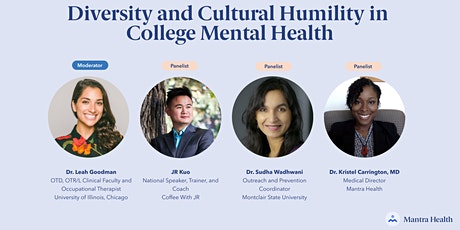 Diversity and Cultural Humility in College Mental Health tickets