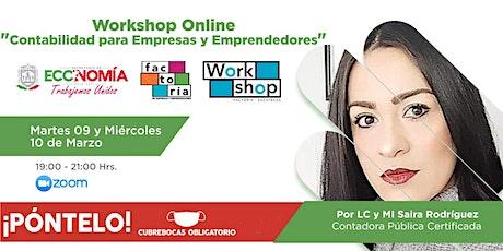 Workshop Online - Contabilidad para Empresas y Emprendedores entradas