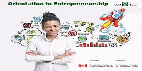 Orientation vers l'entrepreneuriat billets